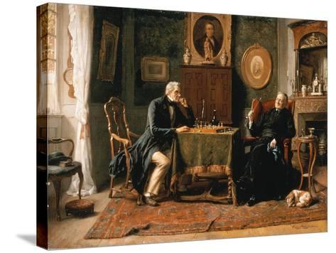 The Game of Chess-Gerard Portielje-Stretched Canvas Print