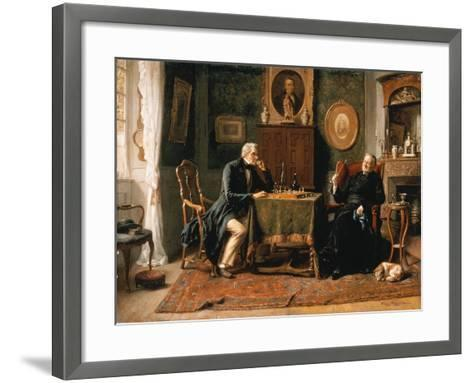 The Game of Chess-Gerard Portielje-Framed Art Print