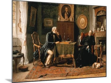 The Game of Chess-Gerard Portielje-Mounted Giclee Print