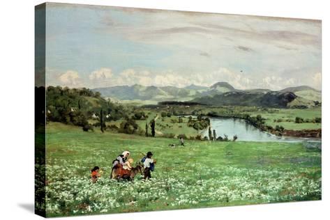 Along the Rhine Near Saeckingen, 1873-Hans Thoma-Stretched Canvas Print