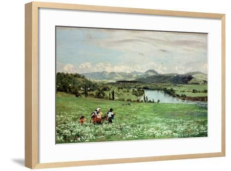 Along the Rhine Near Saeckingen, 1873-Hans Thoma-Framed Art Print