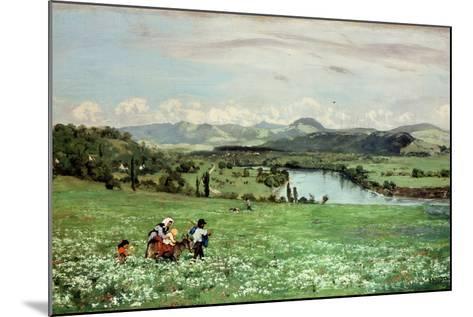 Along the Rhine Near Saeckingen, 1873-Hans Thoma-Mounted Giclee Print