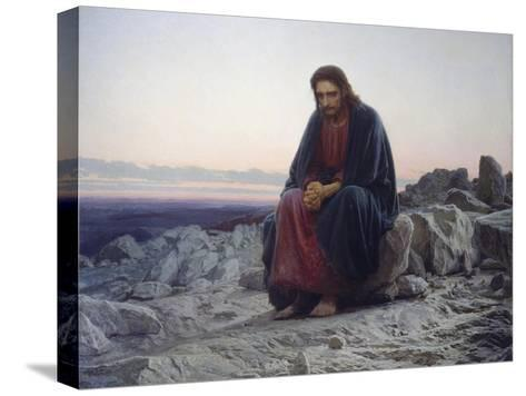 Christ in the Desert, 1872-Iwan Kramskoi-Stretched Canvas Print