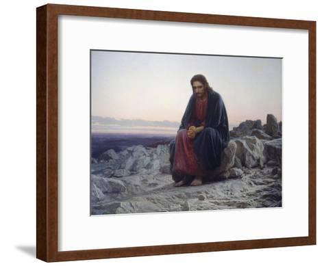 Christ in the Desert, 1872-Iwan Kramskoi-Framed Art Print
