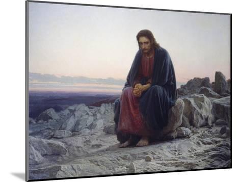 Christ in the Desert, 1872-Iwan Kramskoi-Mounted Giclee Print