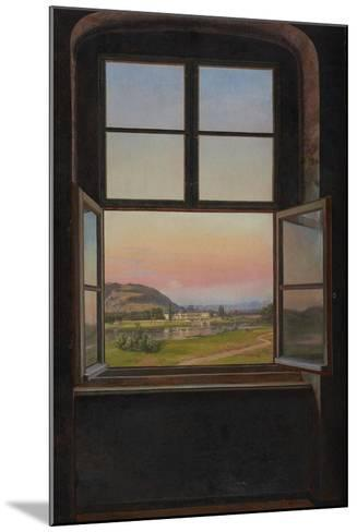 View of Pillnitz Castle, 1823-Johan Christian Clausen Dahl-Mounted Giclee Print