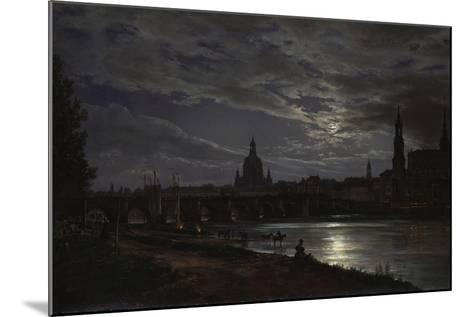 View of Dresden During Fullmoon, 1839-Johan Christian Clausen Dahl-Mounted Giclee Print