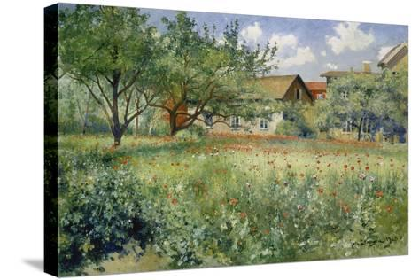 Poppy Field, 1923-Johann Eric Ericson-Stretched Canvas Print
