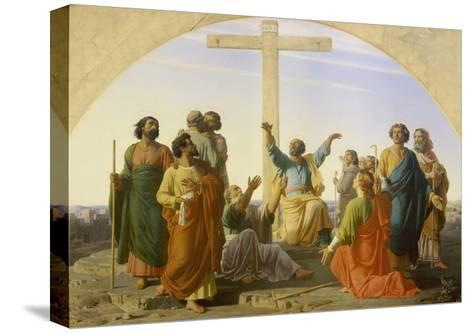 The Departure of the Apostles, 1845-Marc Charles Gabriel Gleyre-Stretched Canvas Print