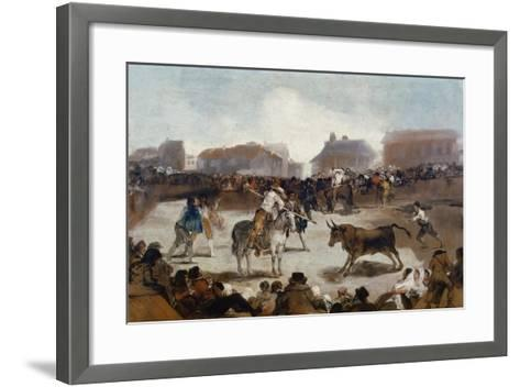 A Village Bullfight, C. 1812-29-Suzanne Valadon-Framed Art Print