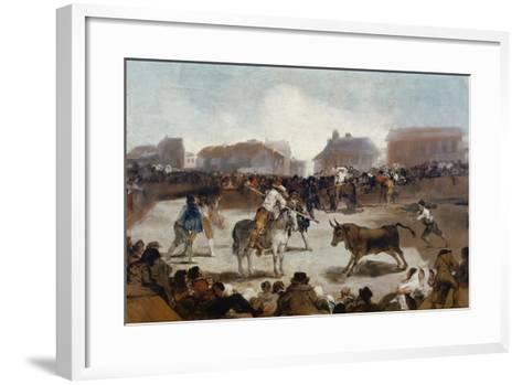 A Village Bullfight, C. 1812-29-Suzanne Valadon-Framed Art Print