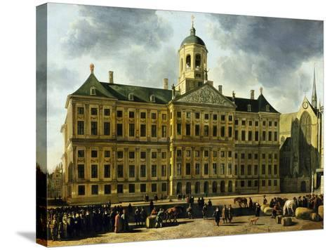 View of the Town Hall, Amsterdam-Gerrit Adriaensz Berckheyde-Stretched Canvas Print