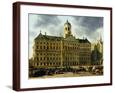 View of the Town Hall, Amsterdam-Gerrit Adriaensz Berckheyde-Framed Art Print