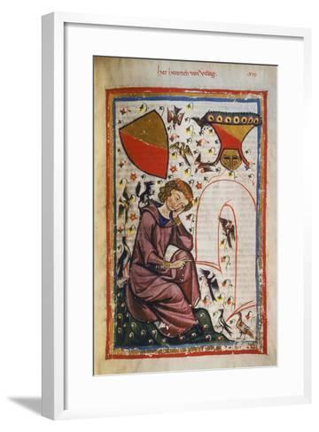 Heinrich Von Veldig-Heidelberger Lieder-Handschrift-Framed Art Print