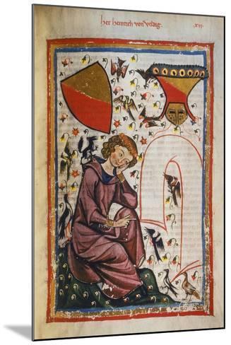 Heinrich Von Veldig-Heidelberger Lieder-Handschrift-Mounted Giclee Print