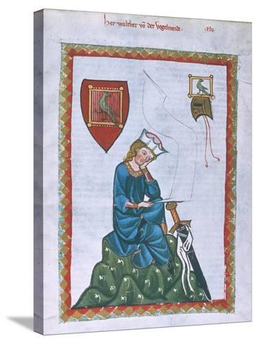 Walther Von Der Vogelweide-Heidelberger Lieder-Handschrift-Stretched Canvas Print