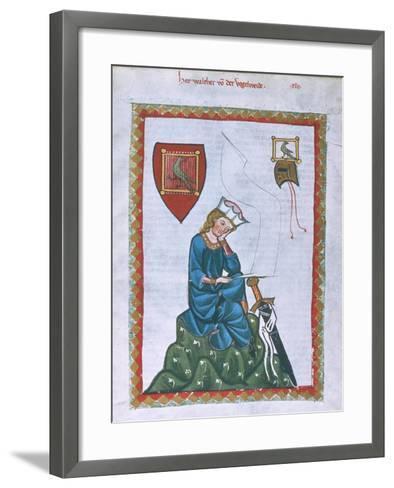 Walther Von Der Vogelweide-Heidelberger Lieder-Handschrift-Framed Art Print