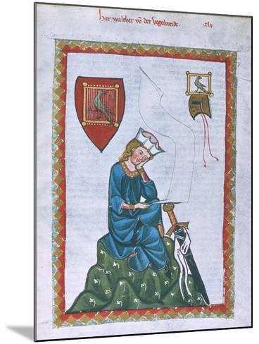 Walther Von Der Vogelweide-Heidelberger Lieder-Handschrift-Mounted Giclee Print