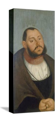 Kurfuerst Johann Friedrich Der Grossmuetige-Lucas Cranach the Elder-Stretched Canvas Print
