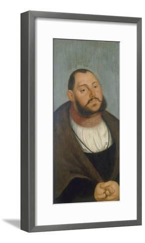 Kurfuerst Johann Friedrich Der Grossmuetige-Lucas Cranach the Elder-Framed Art Print