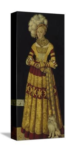 Portrait of Duchess Katharina Von Mecklenburg, 1514-Lucas Cranach the Elder-Stretched Canvas Print