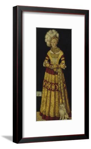 Portrait of Duchess Katharina Von Mecklenburg, 1514-Lucas Cranach the Elder-Framed Art Print
