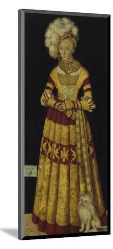 Portrait of Duchess Katharina Von Mecklenburg, 1514-Lucas Cranach the Elder-Mounted Giclee Print