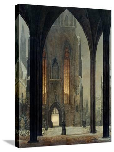 Cathedral in Winter, 1821-Ernst Ferdinand Oehme-Stretched Canvas Print