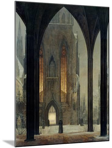 Cathedral in Winter, 1821-Ernst Ferdinand Oehme-Mounted Giclee Print