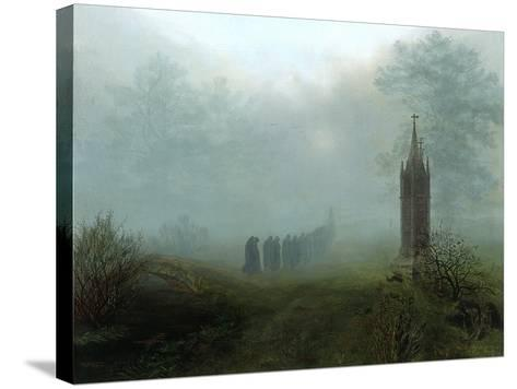 Procession in the Mist, 1828-Ernst Ferdinand Oehme-Stretched Canvas Print