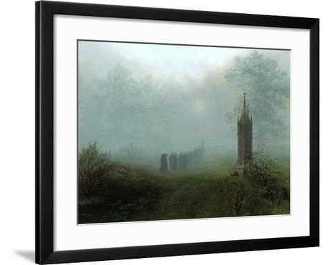 Procession in the Mist, 1828-Ernst Ferdinand Oehme-Framed Art Print