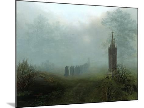 Procession in the Mist, 1828-Ernst Ferdinand Oehme-Mounted Giclee Print