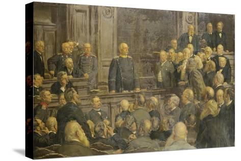 Bismarcks Letzte Reichstagsrede Am 6 Februar 1888-Ernst Henseler-Stretched Canvas Print