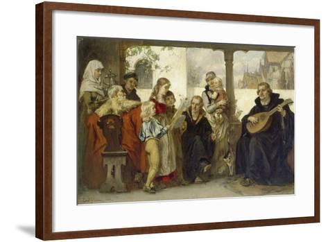 Martin Luther Im Kreise Seiner Familie Musizierend (Mit Cranach Und Melanchthon)-Ernst Hildebrandt-Framed Art Print