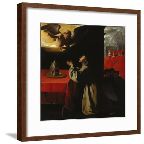 St, Bonaventura Praying, 1629-Francisco Zurbaran y Salazar-Framed Art Print