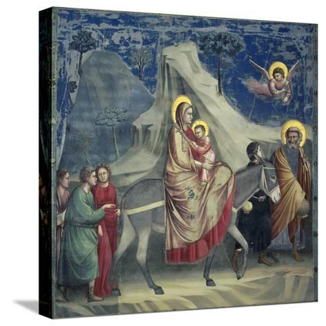 Flight into Egypt, 1303-1305-Giotto di Bondone-Stretched Canvas Print