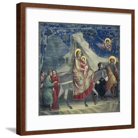 Flight into Egypt, 1303-1305-Giotto di Bondone-Framed Art Print