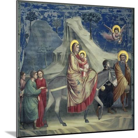 Flight into Egypt, 1303-1305-Giotto di Bondone-Mounted Giclee Print