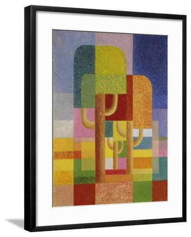 Landscape with Trees, C. 1932-Heinrich Hoerle-Framed Art Print