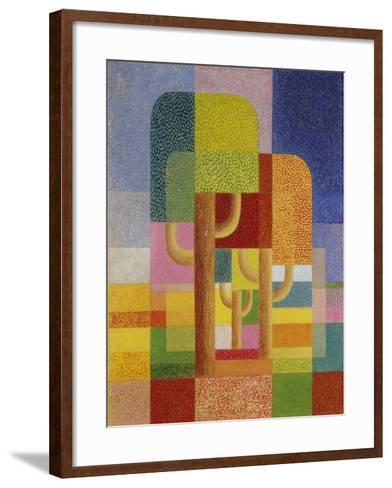 Landscape with Trees, C. 1932-Heinrich Hoerle-Framed Art Print