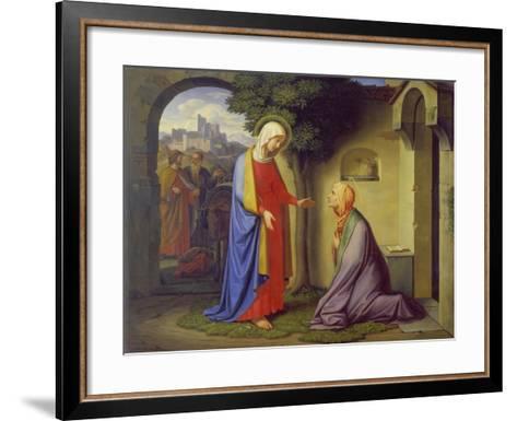 The Visitation, 1829-Heinrich Maria Hess-Framed Art Print