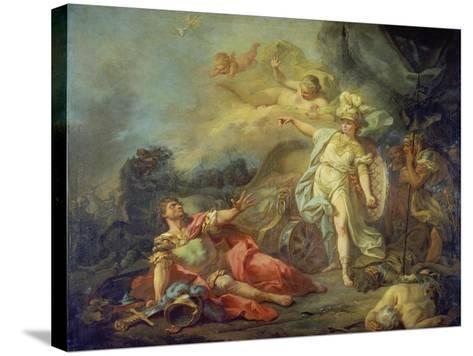The Fight Between Mars and Minerva-Jacques Louis David-Stretched Canvas Print