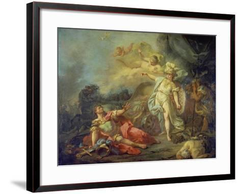 The Fight Between Mars and Minerva-Jacques Louis David-Framed Art Print