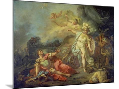 The Fight Between Mars and Minerva-Jacques Louis David-Mounted Giclee Print