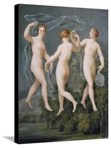 The Three Graces-Johann Heinrich Wilhelm Tischbein-Stretched Canvas Print