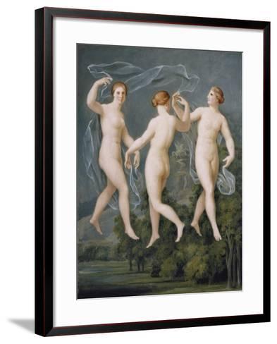The Three Graces-Johann Heinrich Wilhelm Tischbein-Framed Art Print