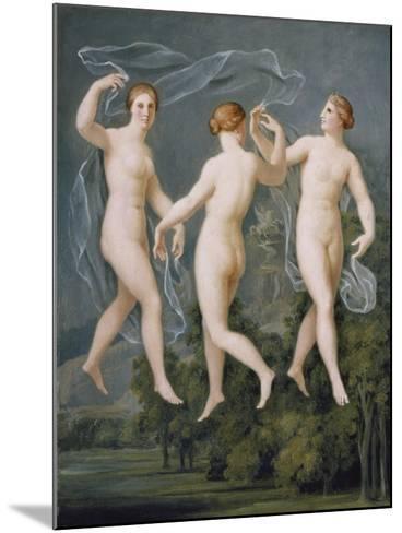 The Three Graces-Johann Heinrich Wilhelm Tischbein-Mounted Giclee Print