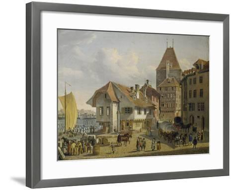 The Harbour of Basel-Konstantin Guise-Framed Art Print