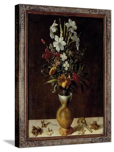 Bouquet of Flowers in a Vase-Ludger Tom Ring-Stretched Canvas Print