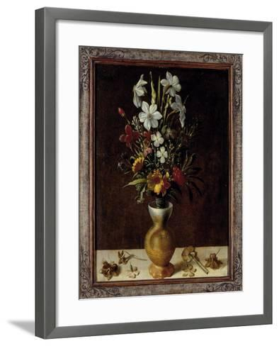 Bouquet of Flowers in a Vase-Ludger Tom Ring-Framed Art Print
